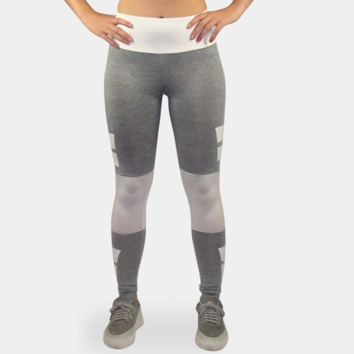 fitness legging grijs wit