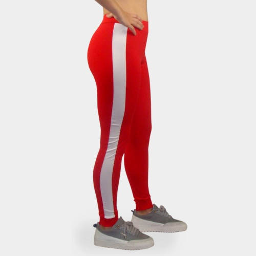 fitness legging rood wit